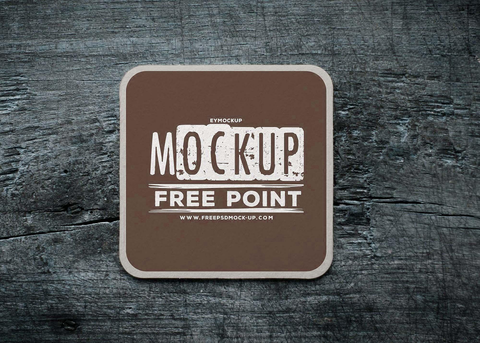 Coffee Cup Coaster Mockup