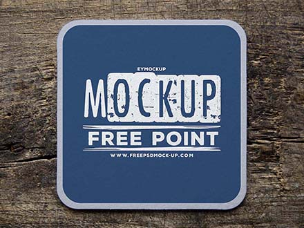 Coffee Cup Coaster Mockup