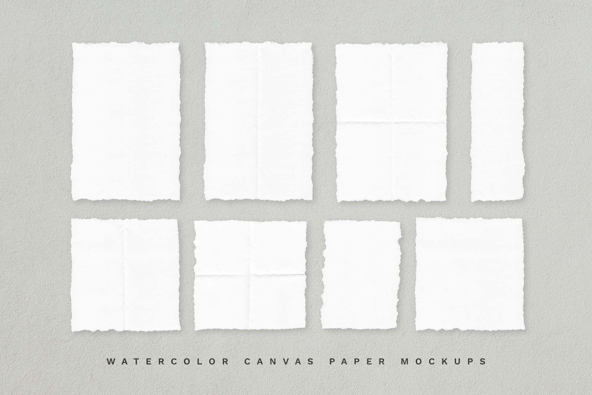 Deckle Paper Mockup