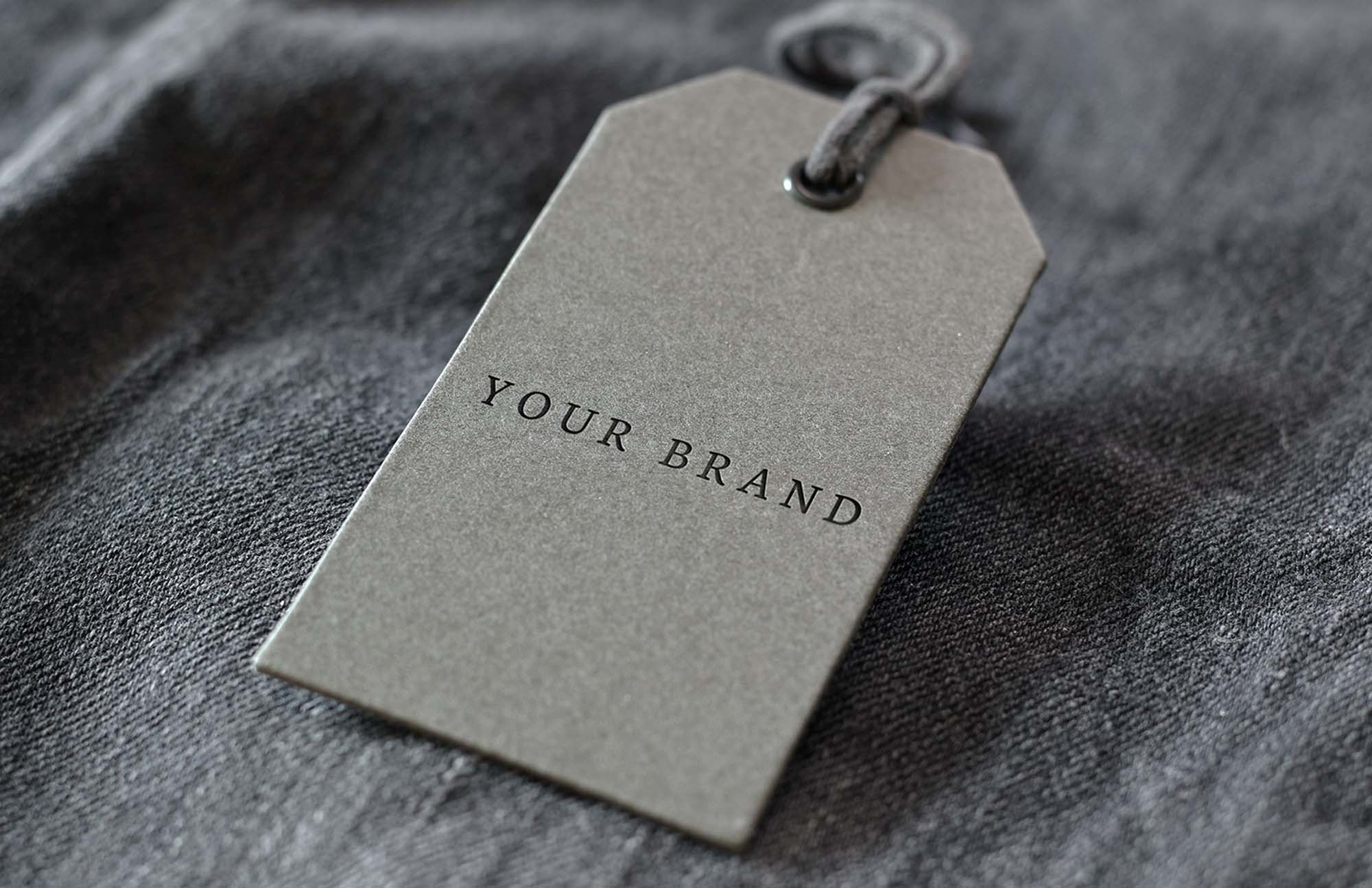 Denim Label Logo Mockup