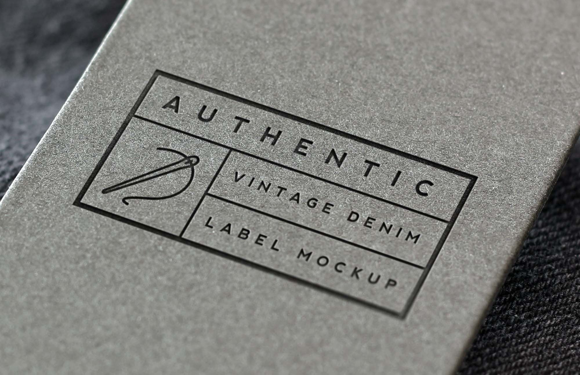 Denim Label Logo Mockup
