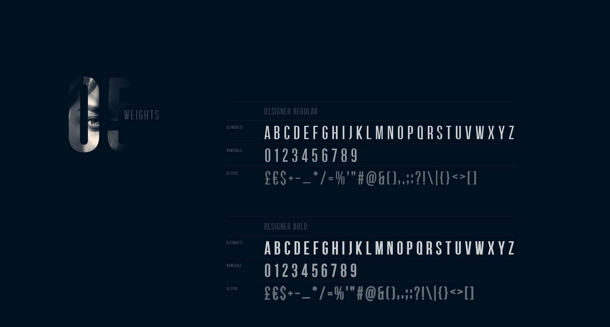 Designer Font Letters