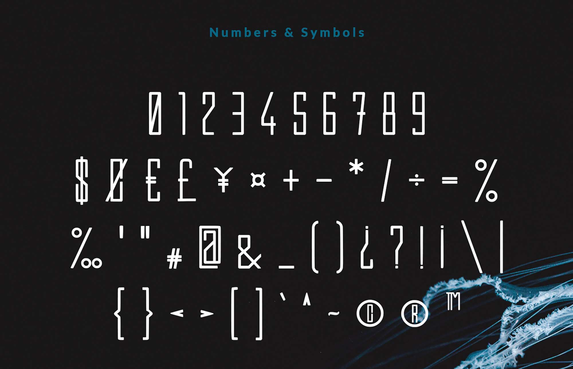 Efesto Font Numbers and Glyphs