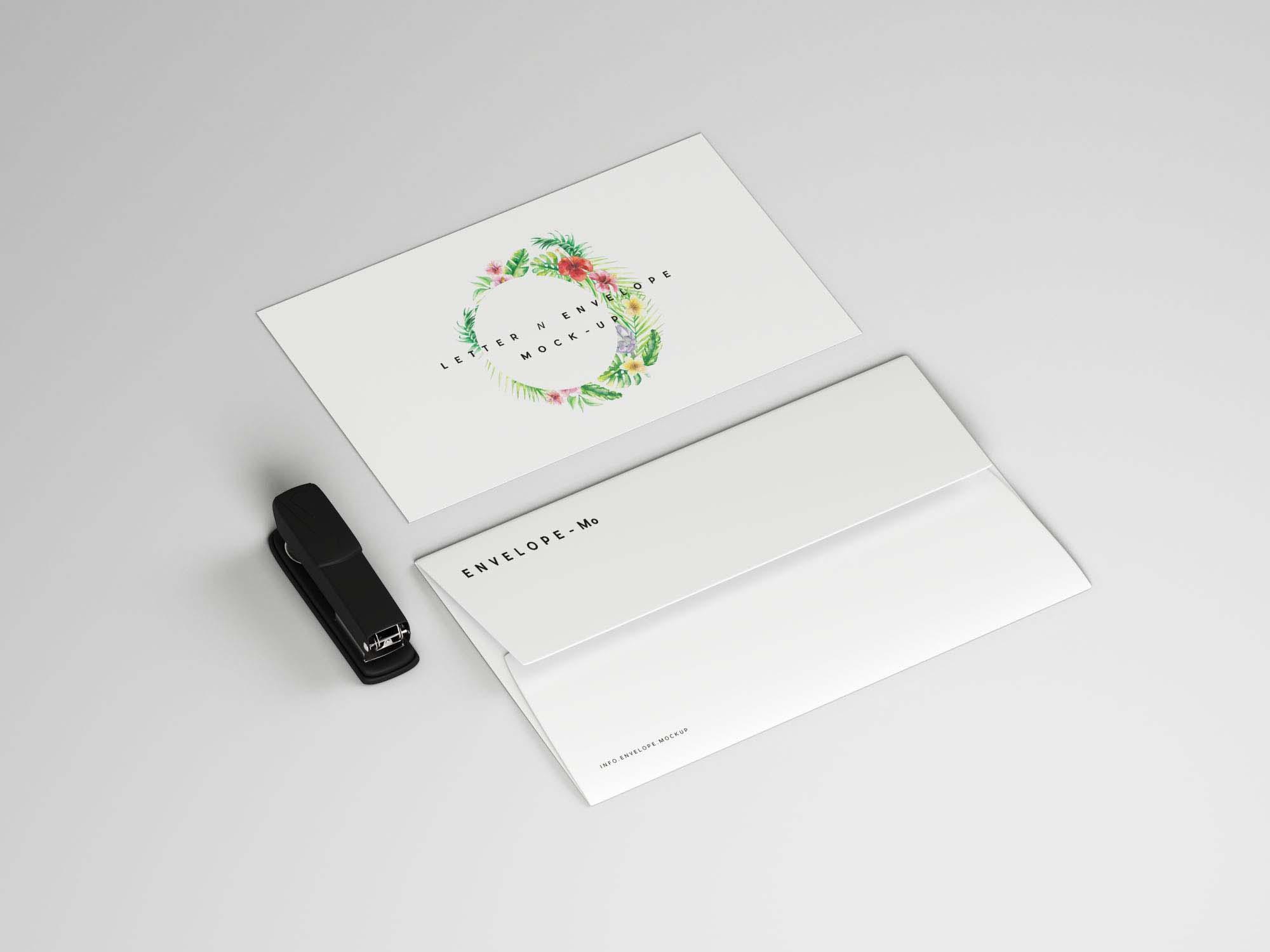 Envelope and Letter Mockup