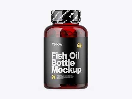 Fish Oil Bottle Mockup