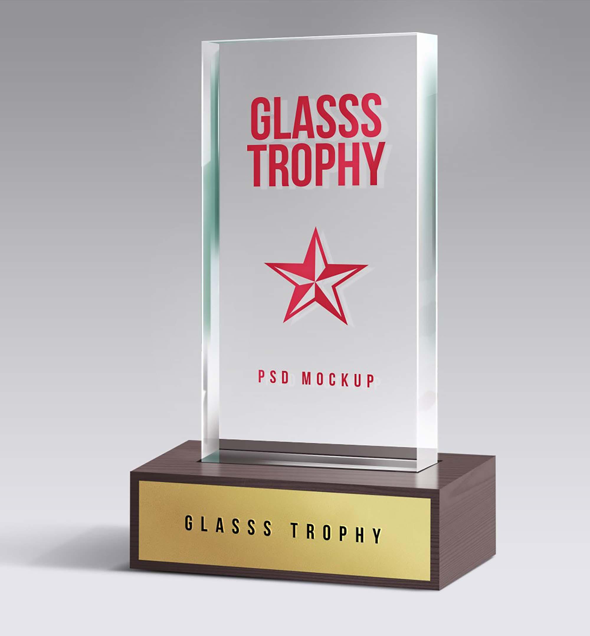 Glass Trophy Mockup