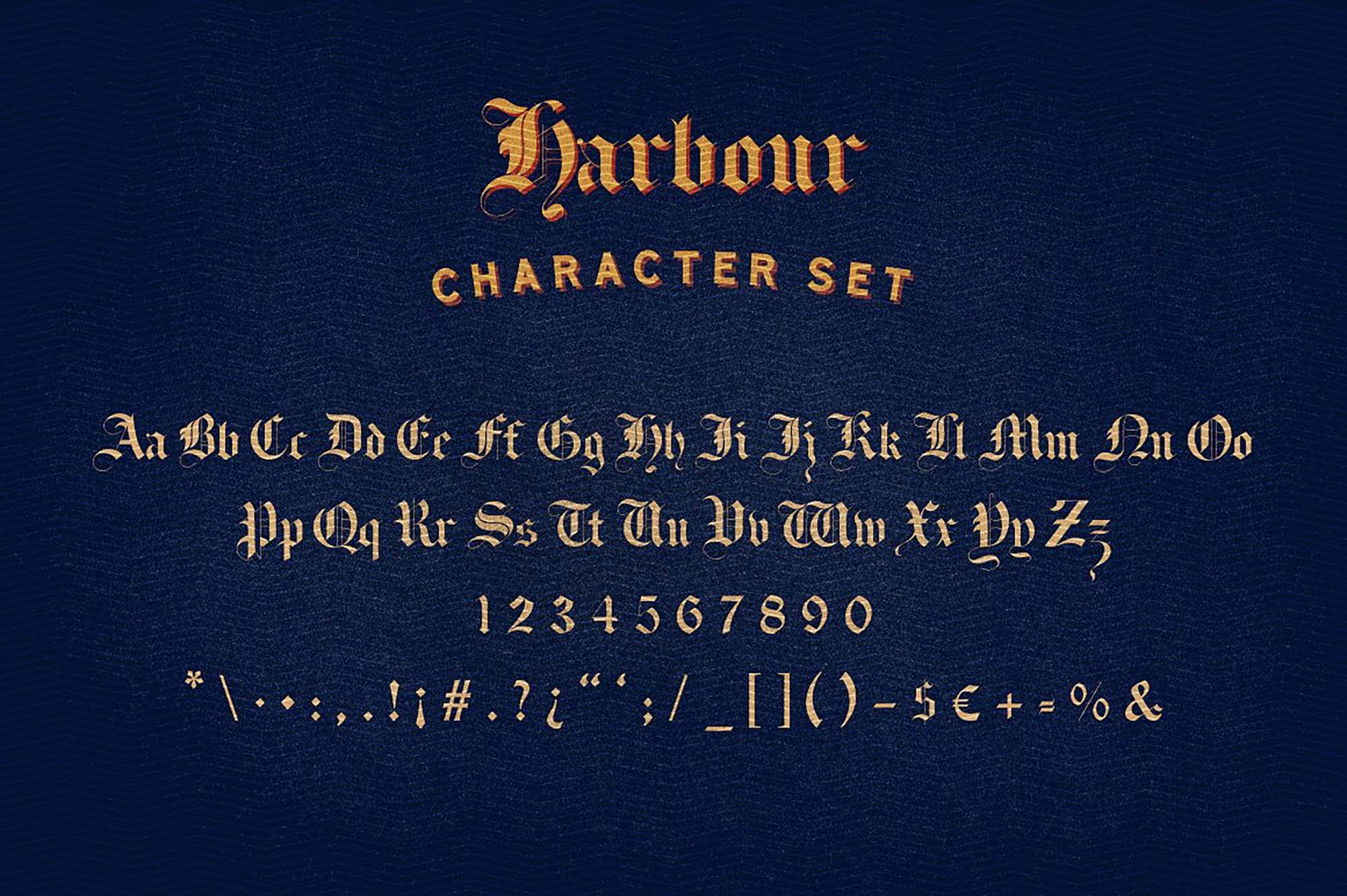 Harbour Font Letters