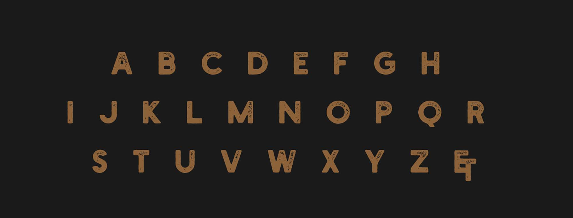 Holtzberg Typeface Letters