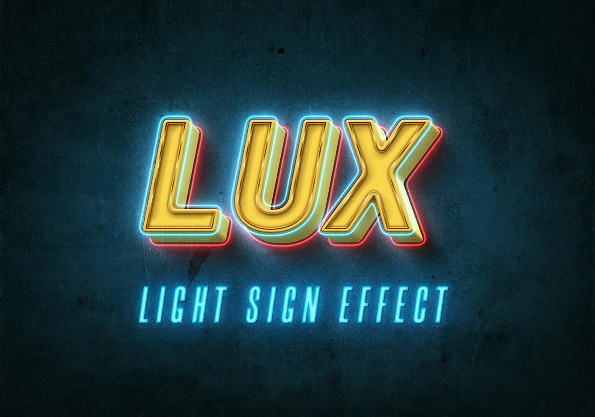 Light Sign Mockup