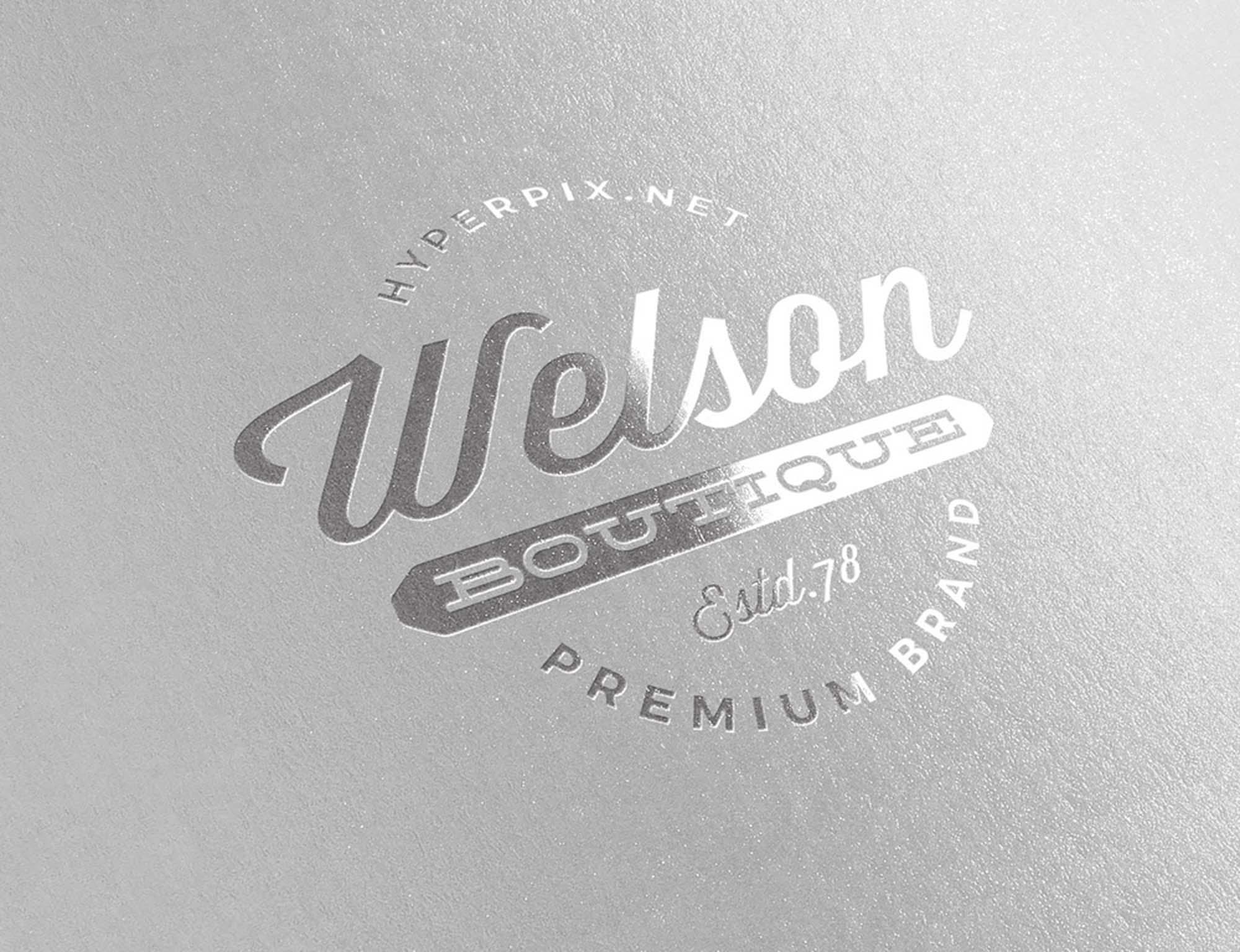 Metallic Silver Logo Mockup