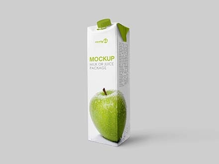 Juice Carton Package Mockup