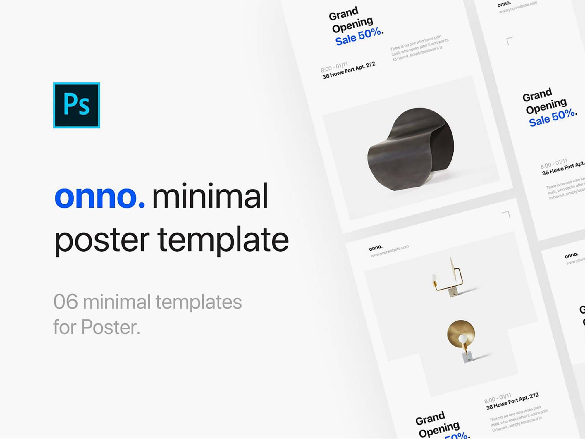 Minimalistic Poster Templates