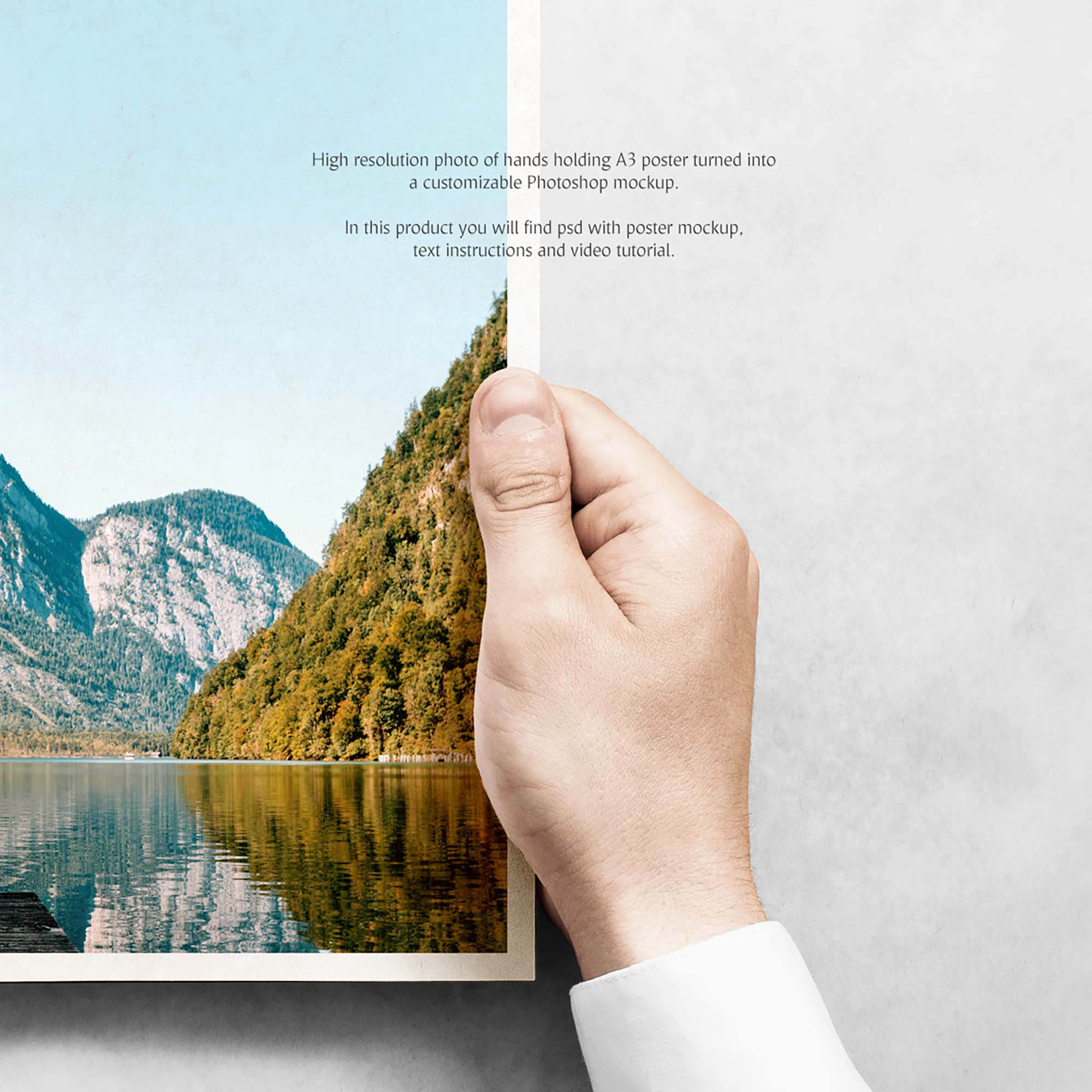 Poster in Hand Mockup