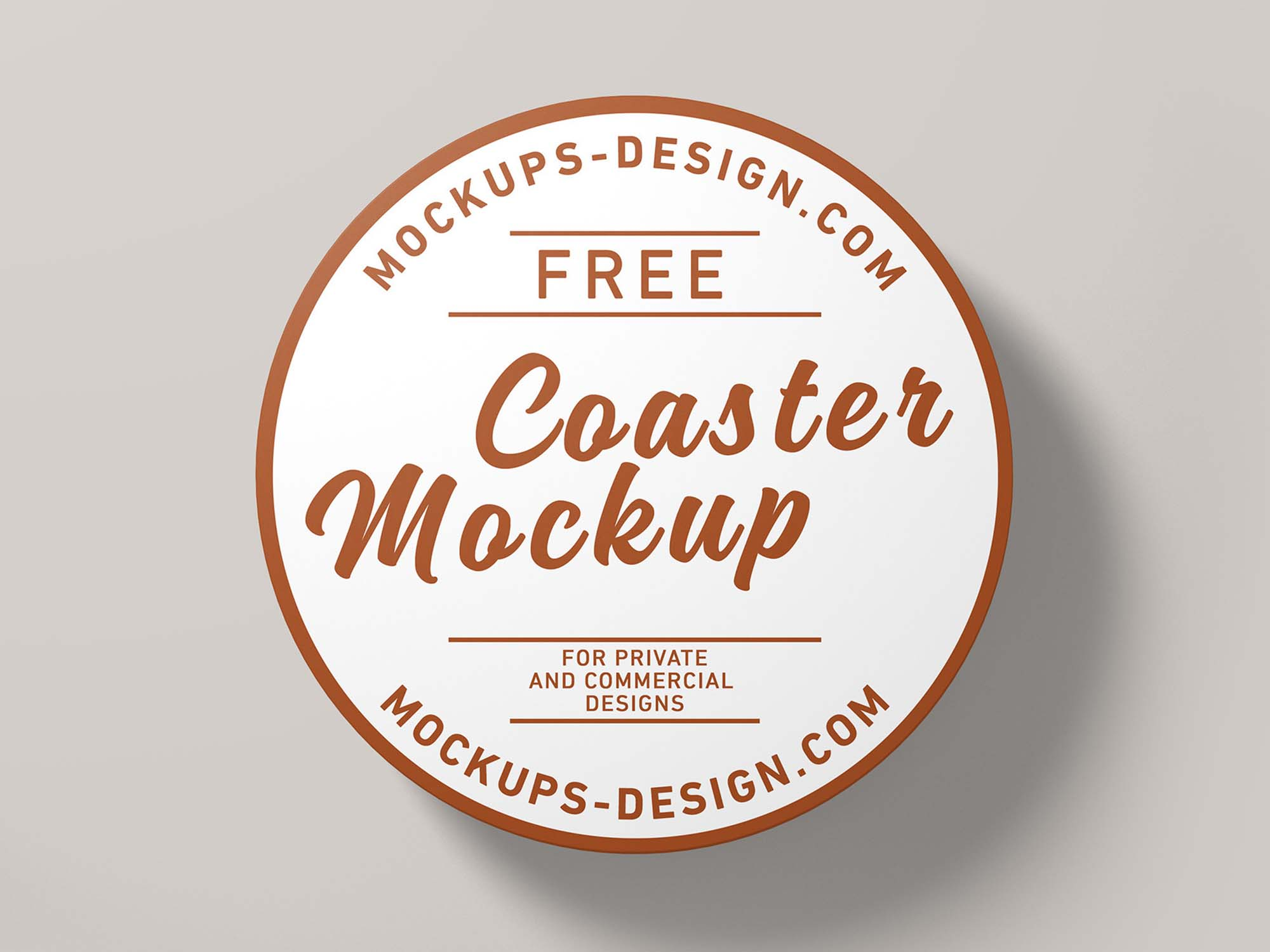 Round Coaster Mockup
