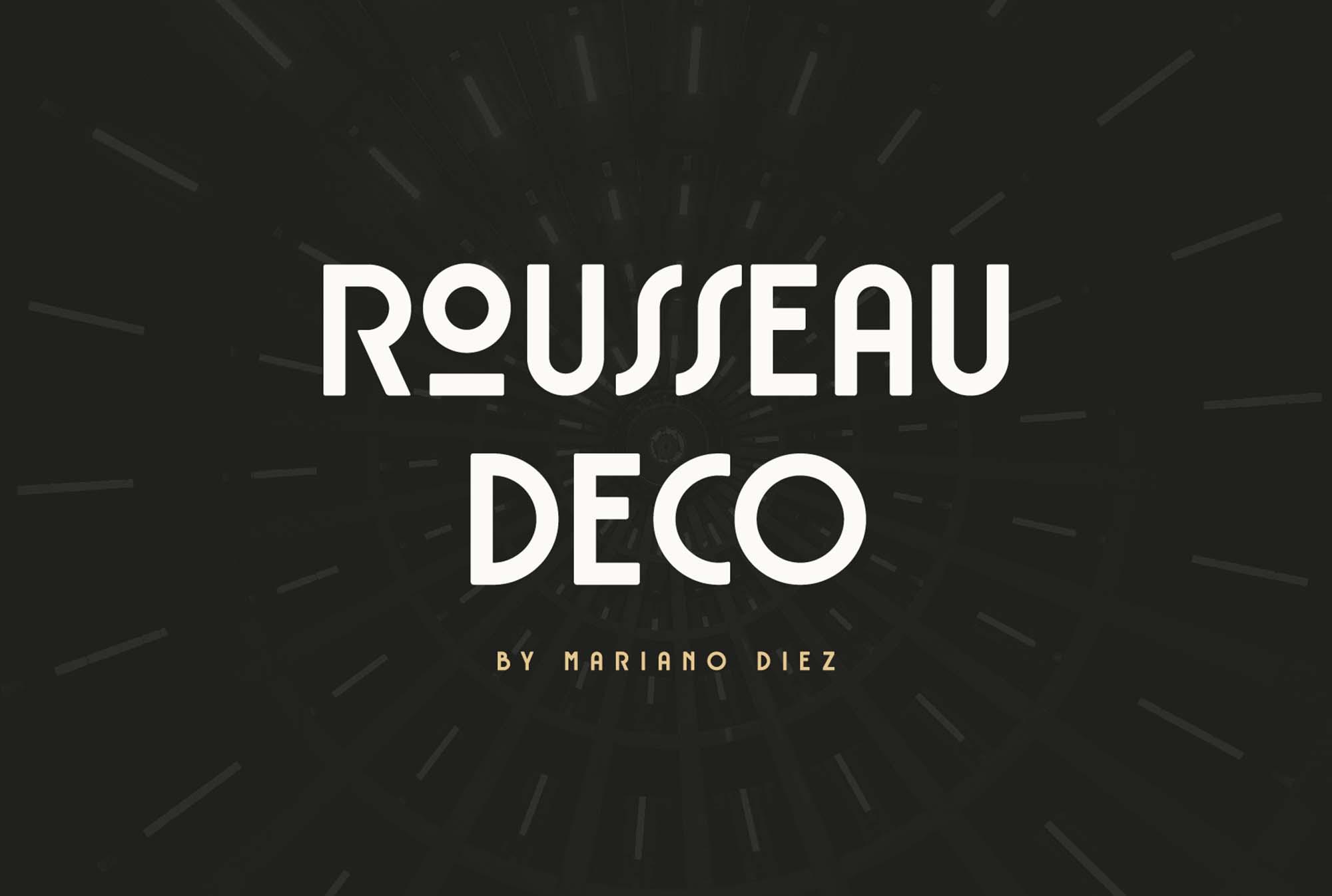 Rousseau Deco Font