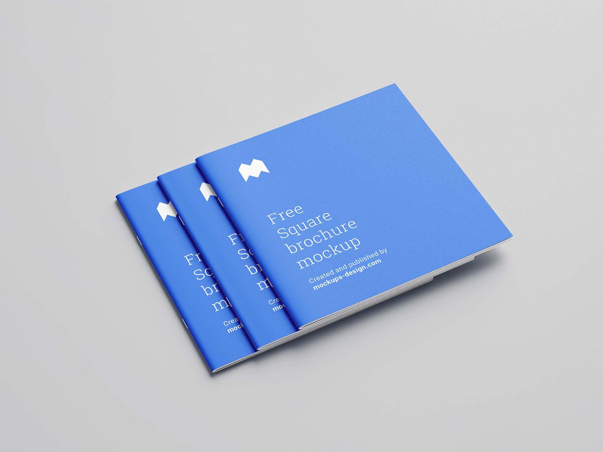 Square Brochure Mockup Cover