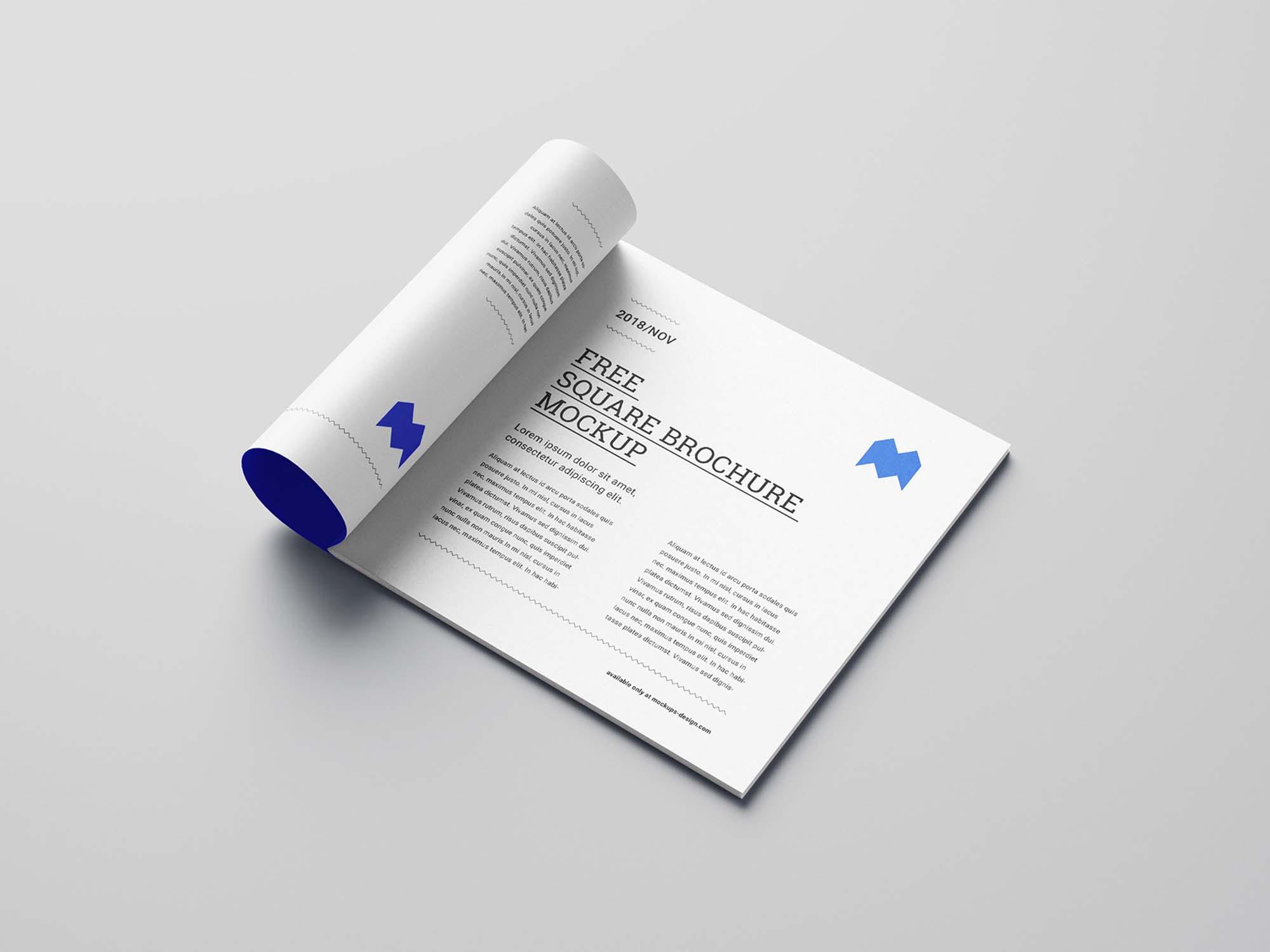 Square Brochure Mockup Inside