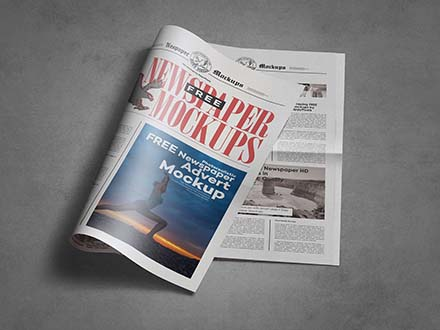 Tabloid Newspaper Mockup
