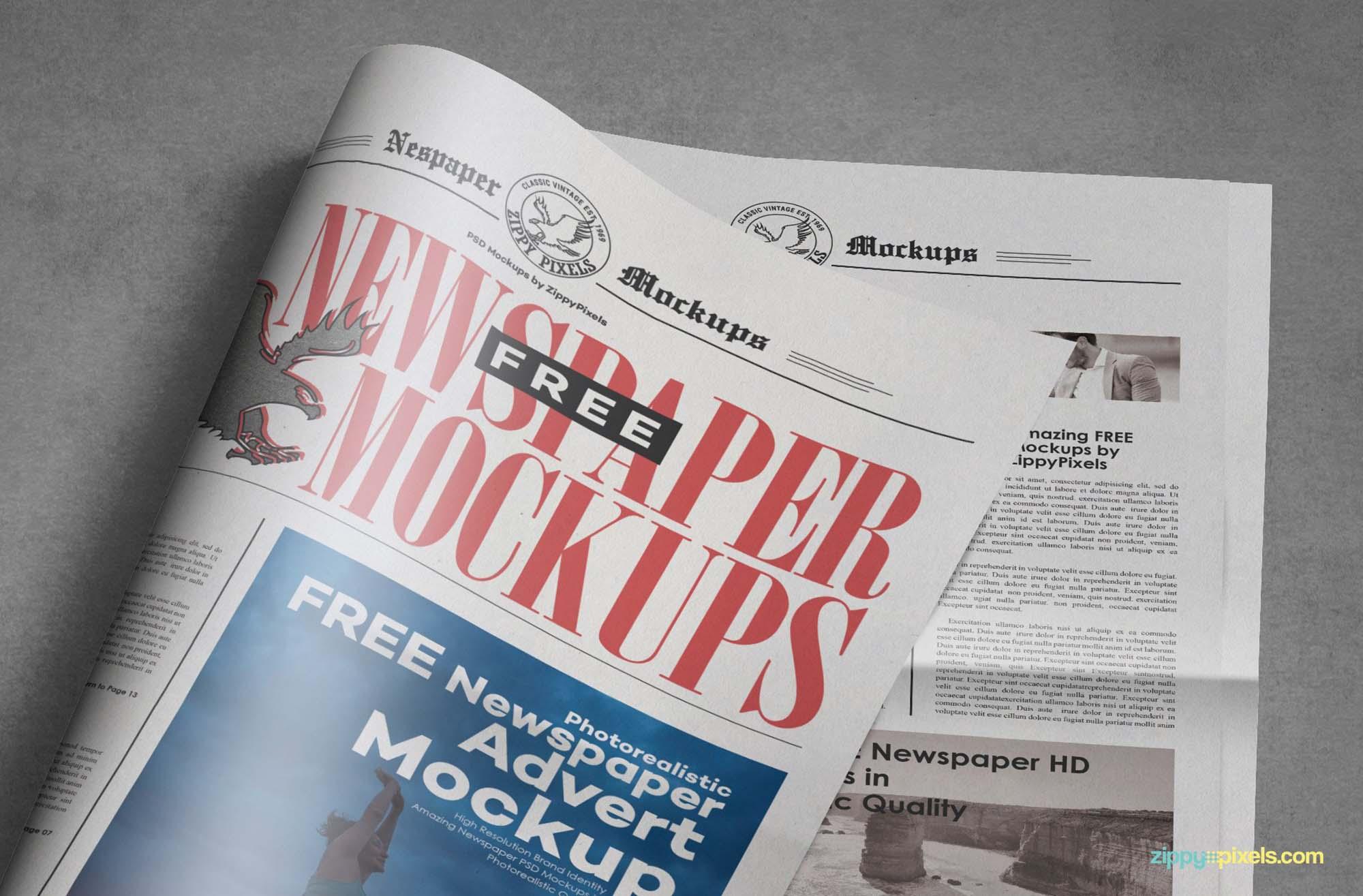 Tabloid Newspaper Mockup