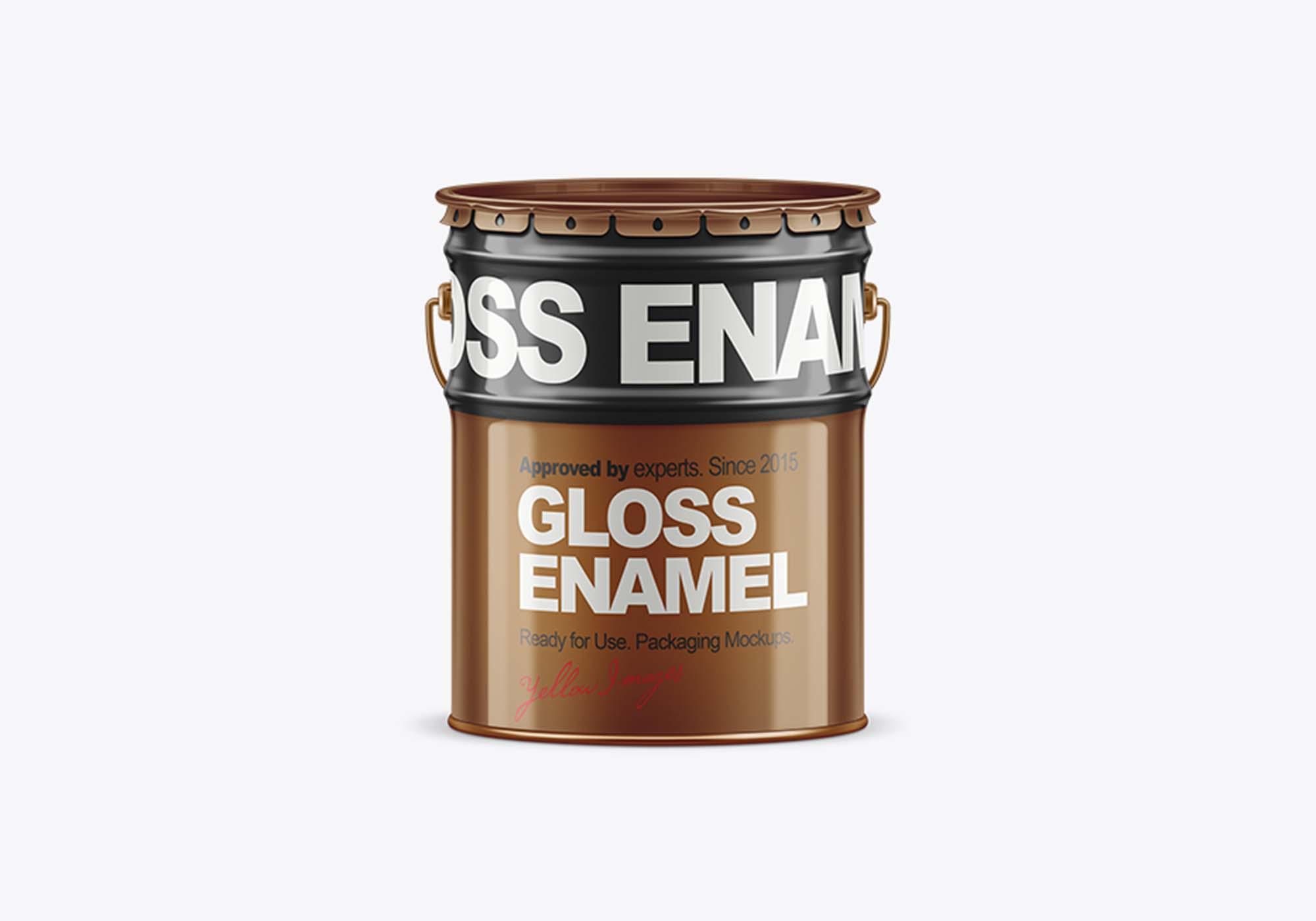 Tin Paint Bucket Mockup