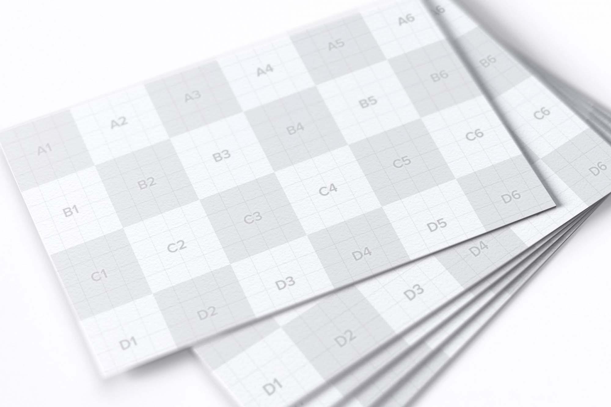 UK Business Card Mockup