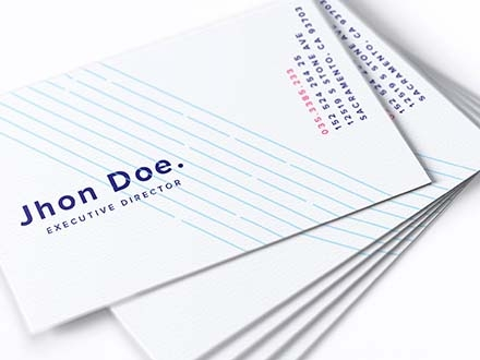 UK Business Card Mockup