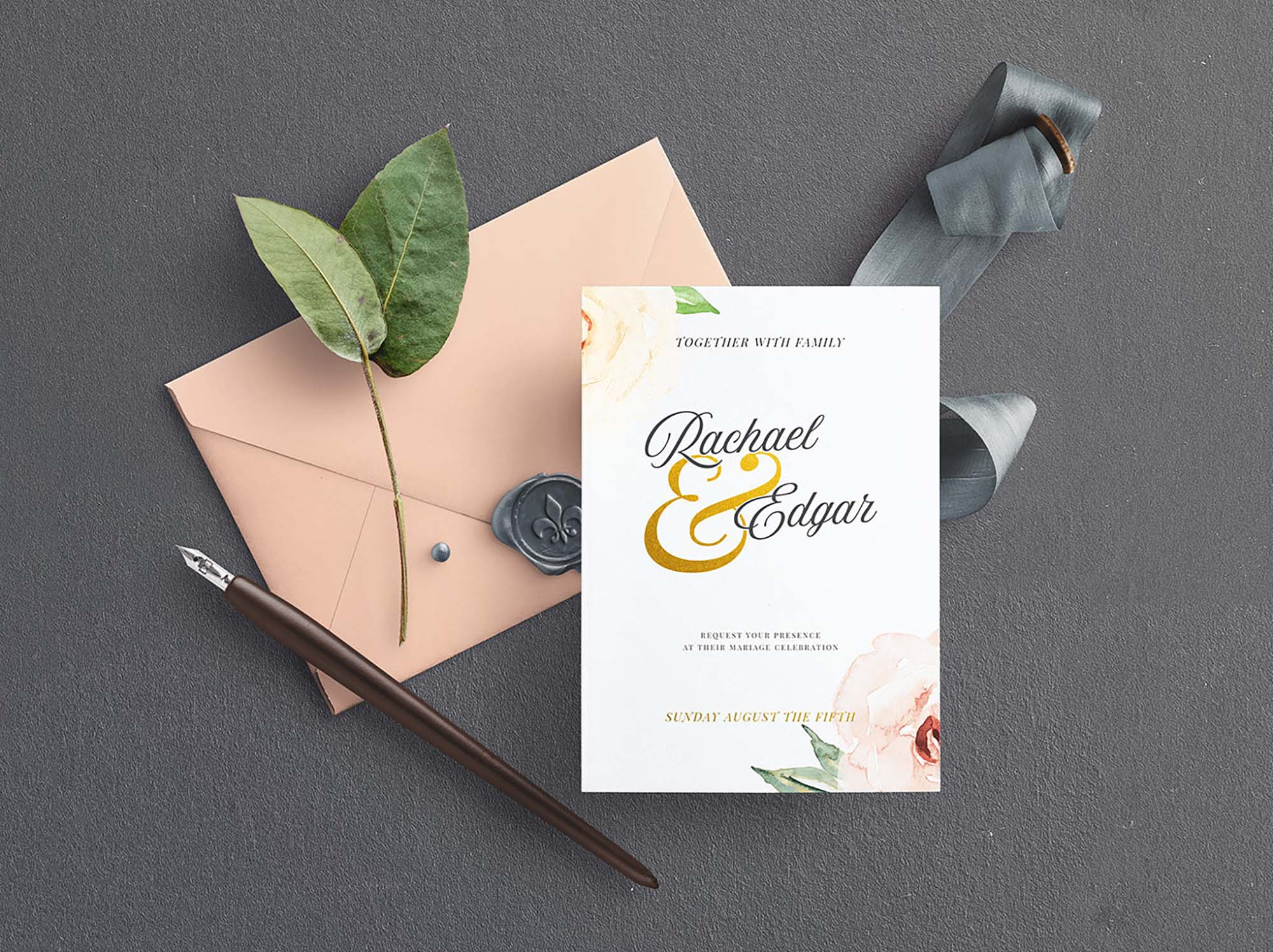 Wedding Stationery Mockup