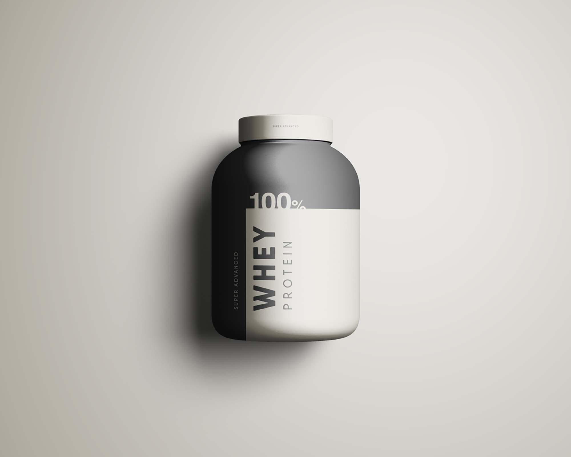 Whey Protein Jar Mockup