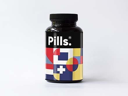 Vitamins Bottle Mockup