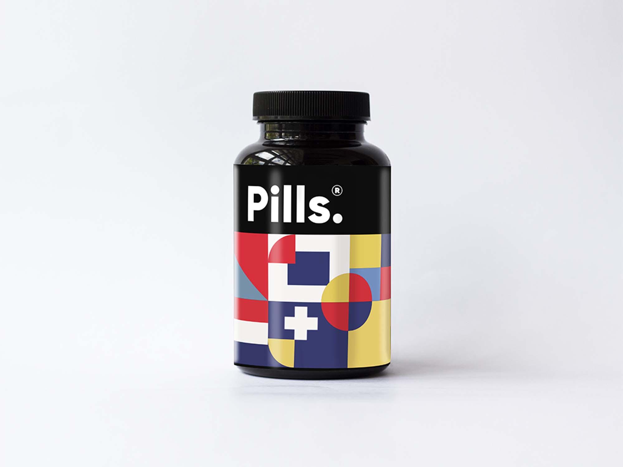 Vitamins Bottle Mockup