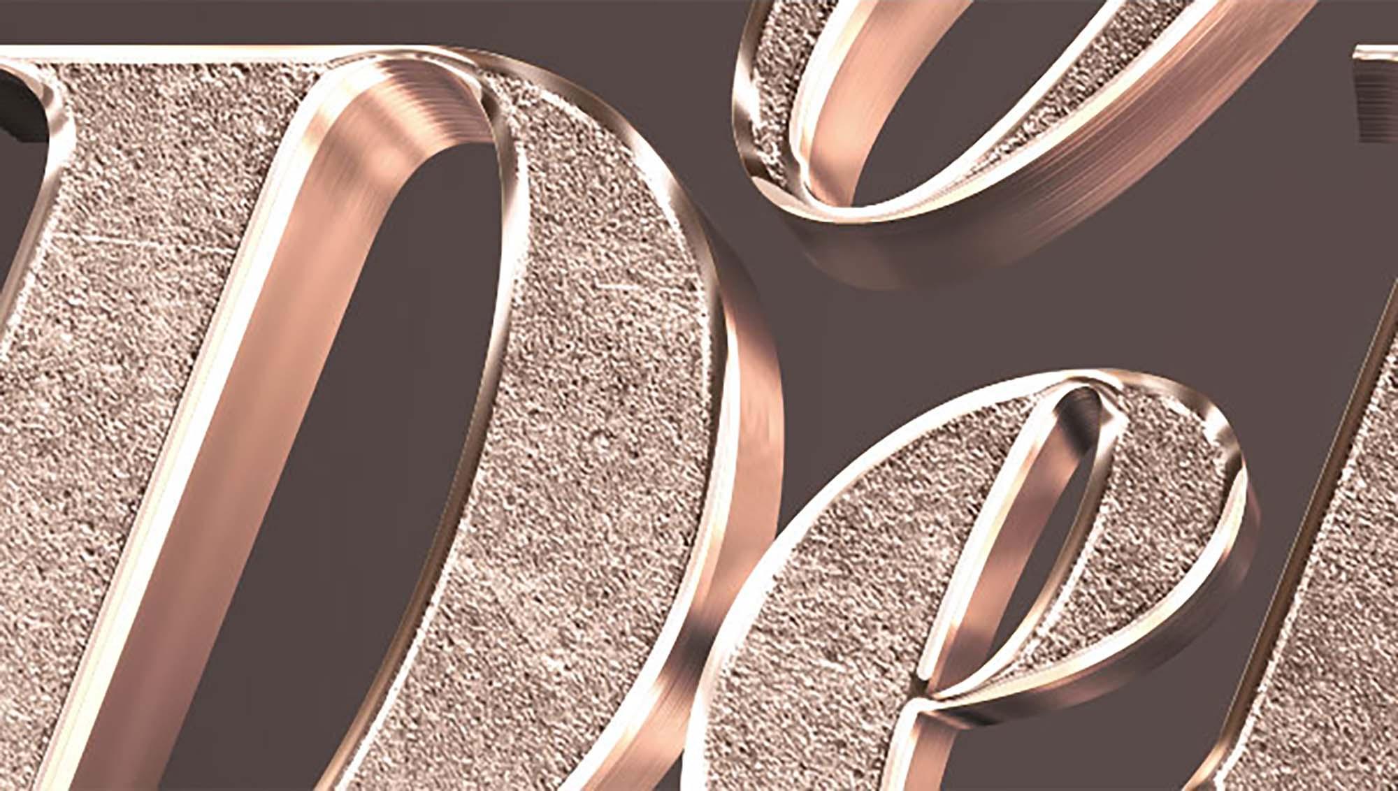 3D Bronze Text Effect