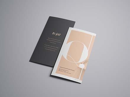 Tri fold Flyer Mockup