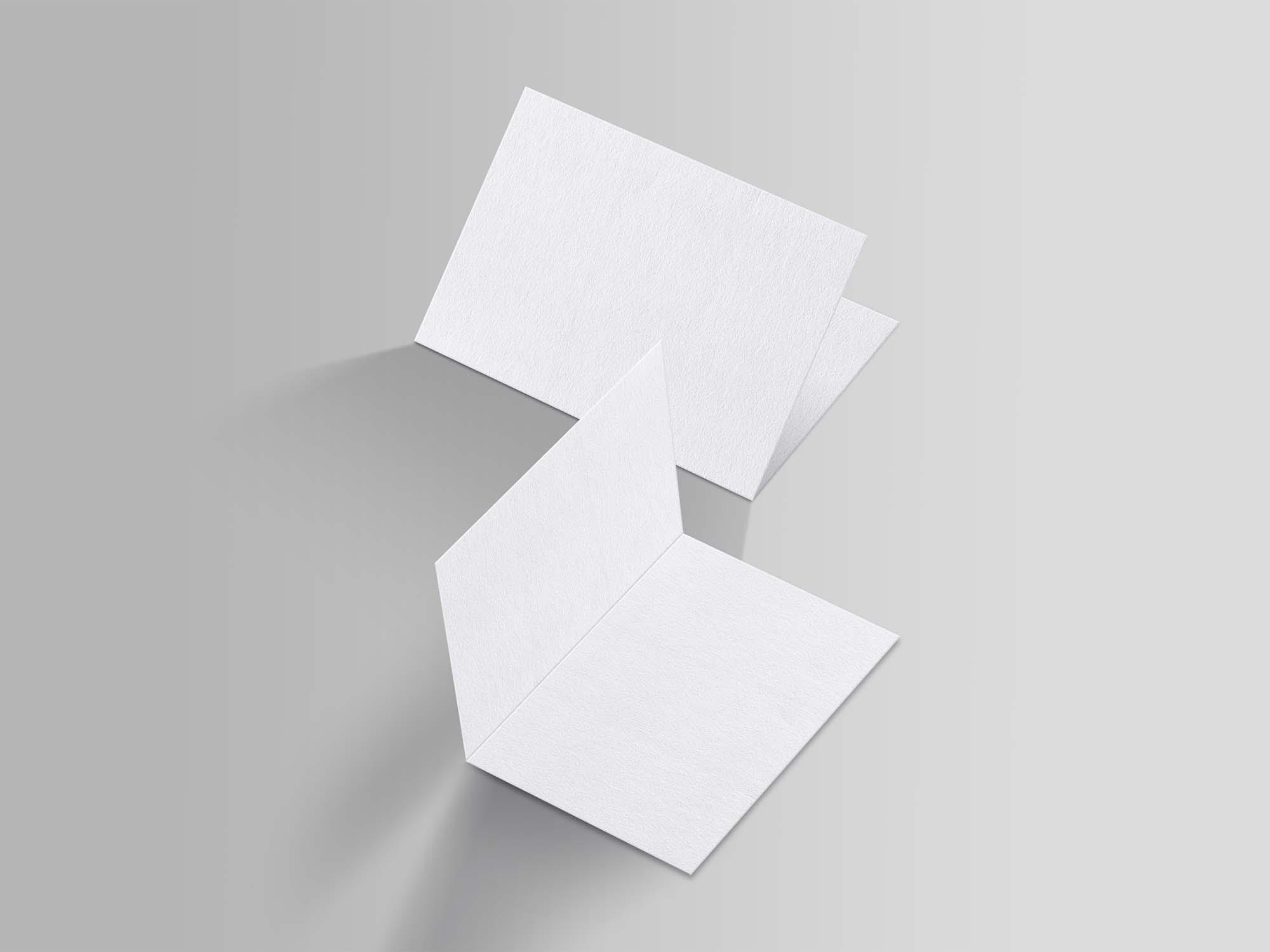 A4 Folded Brochure Mockup