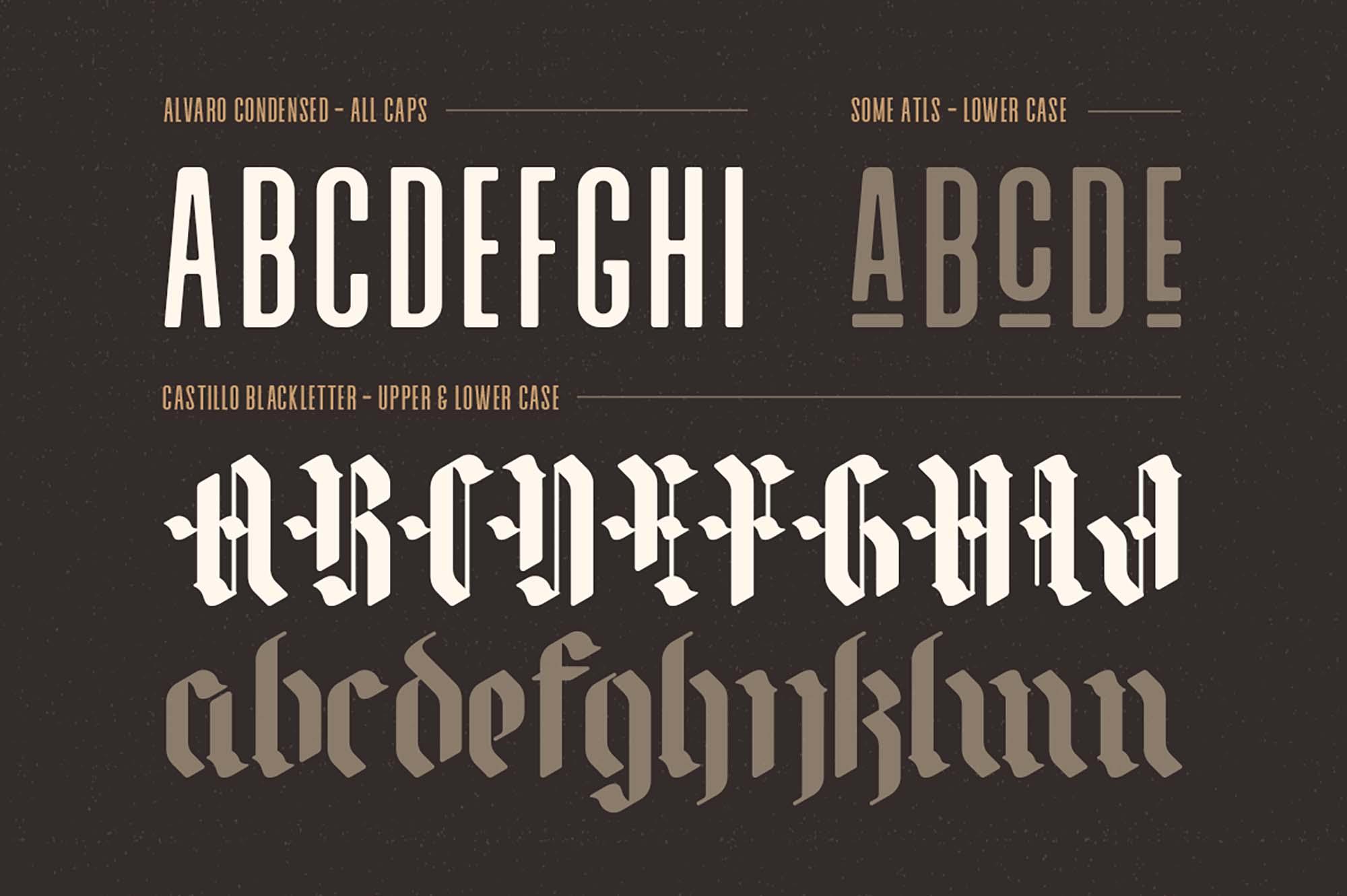 Alvaro Font Characters