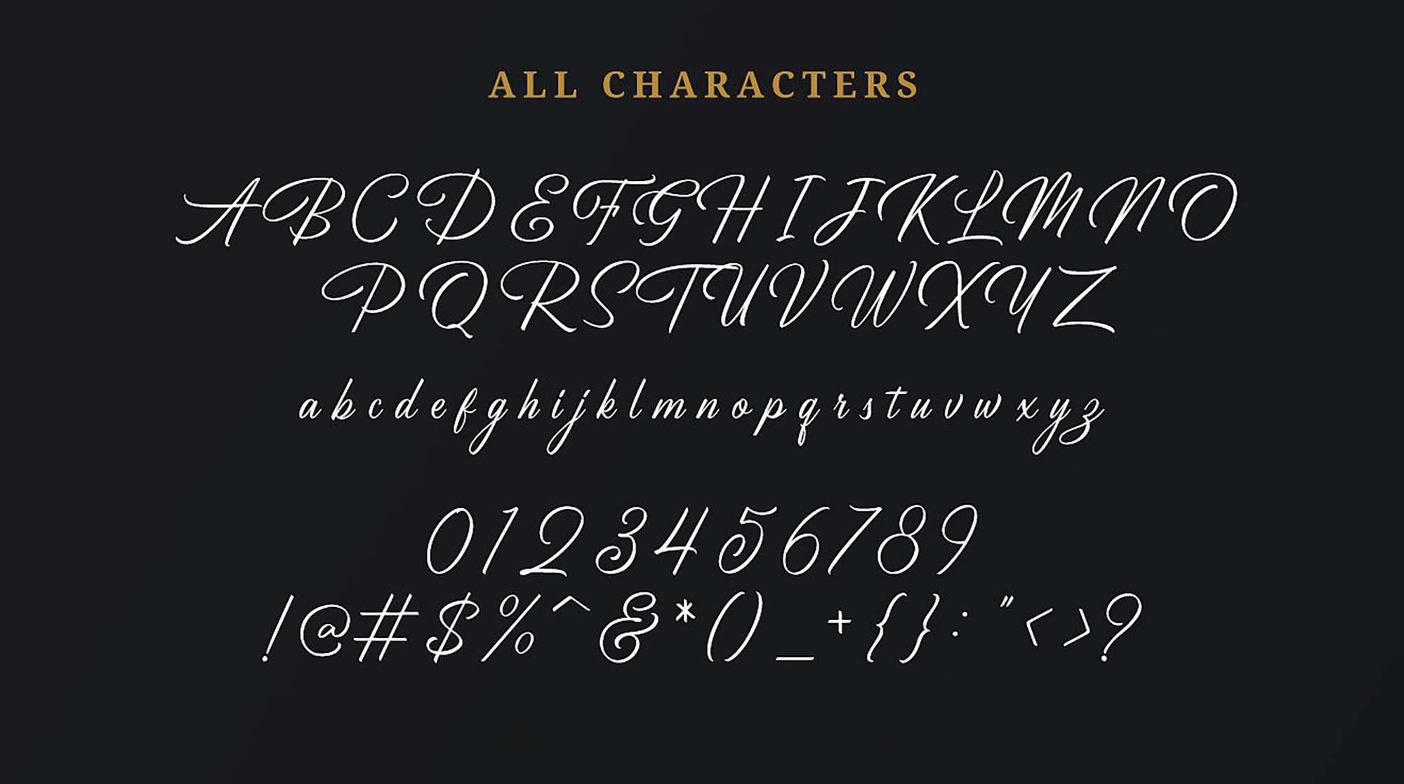 Birmingham Font Characters