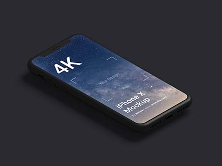 Black Clay iPhone Mockup