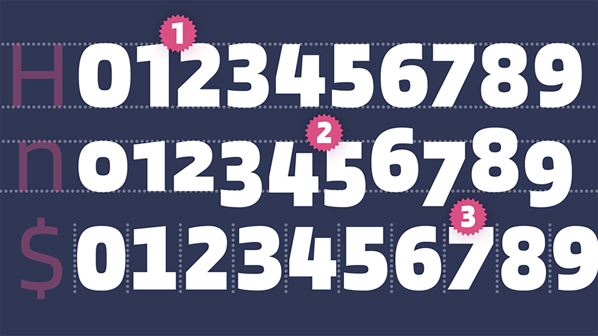 Blinker Font Numbers