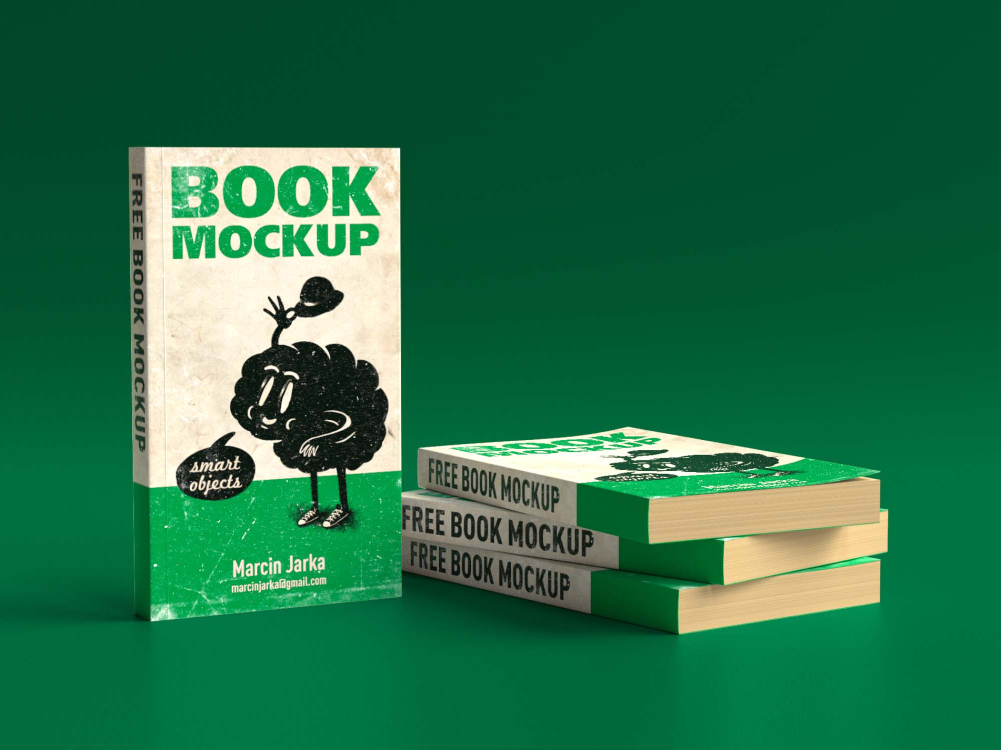 Group of Books Mockup