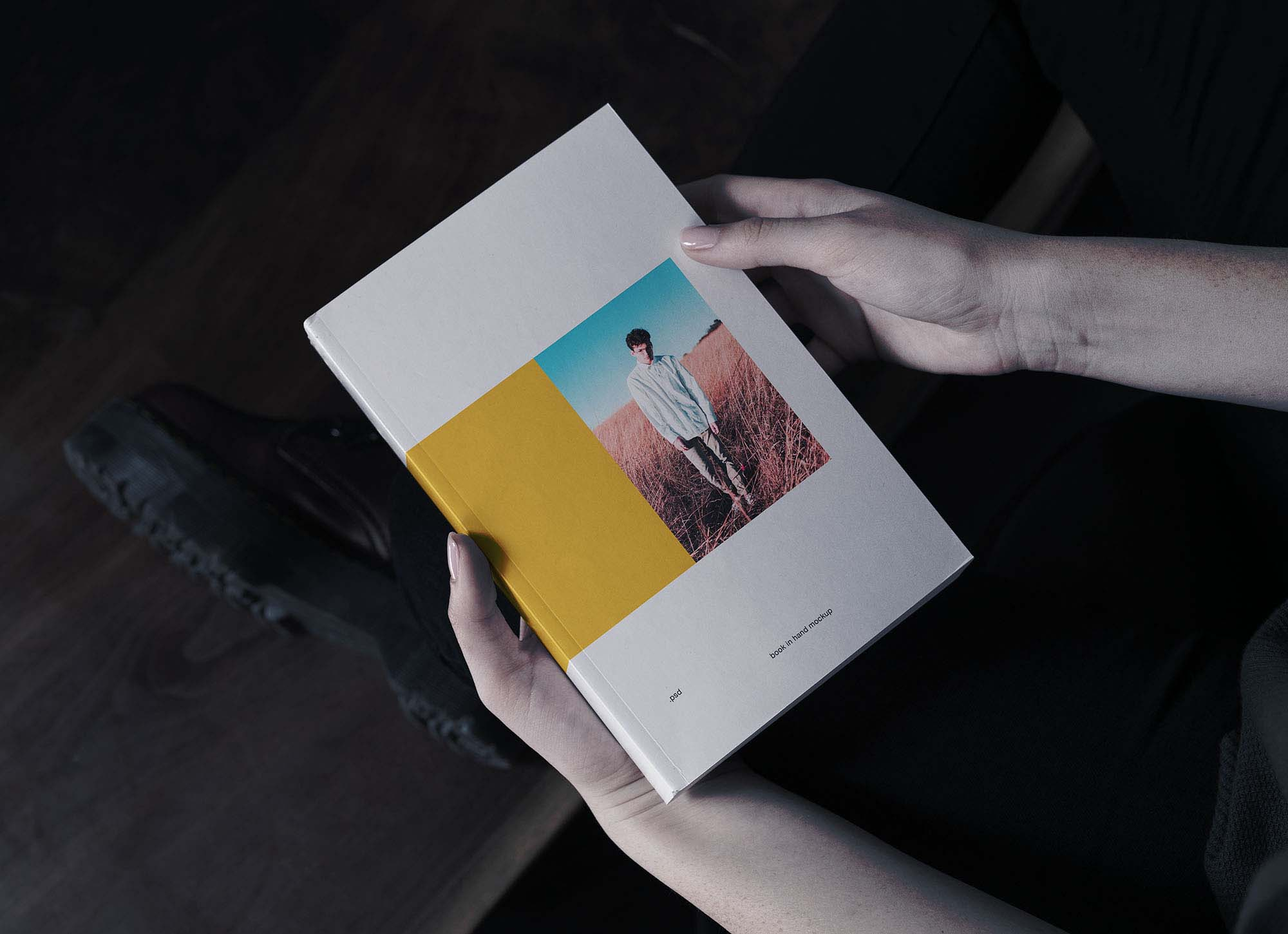Book in Hand Mockup