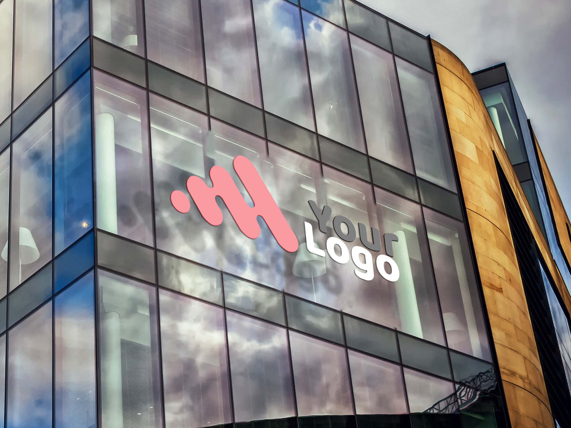 Building Facade Logo Mockup