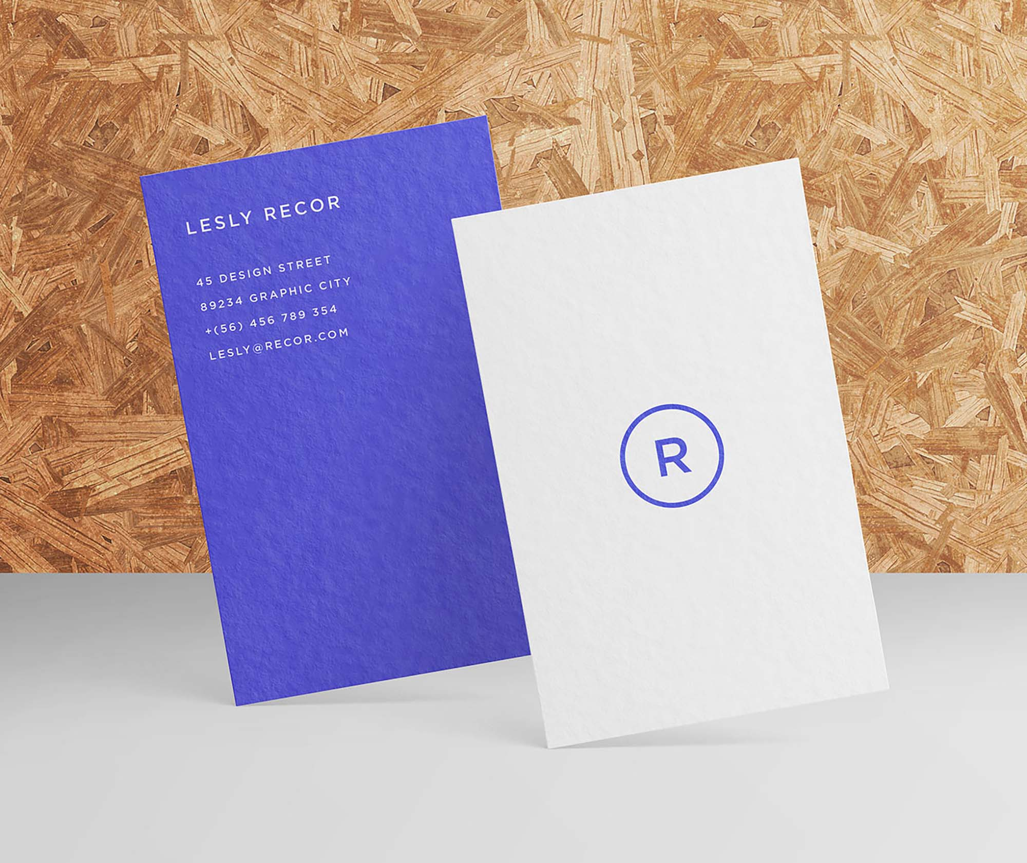 Standing Business Card Mockup