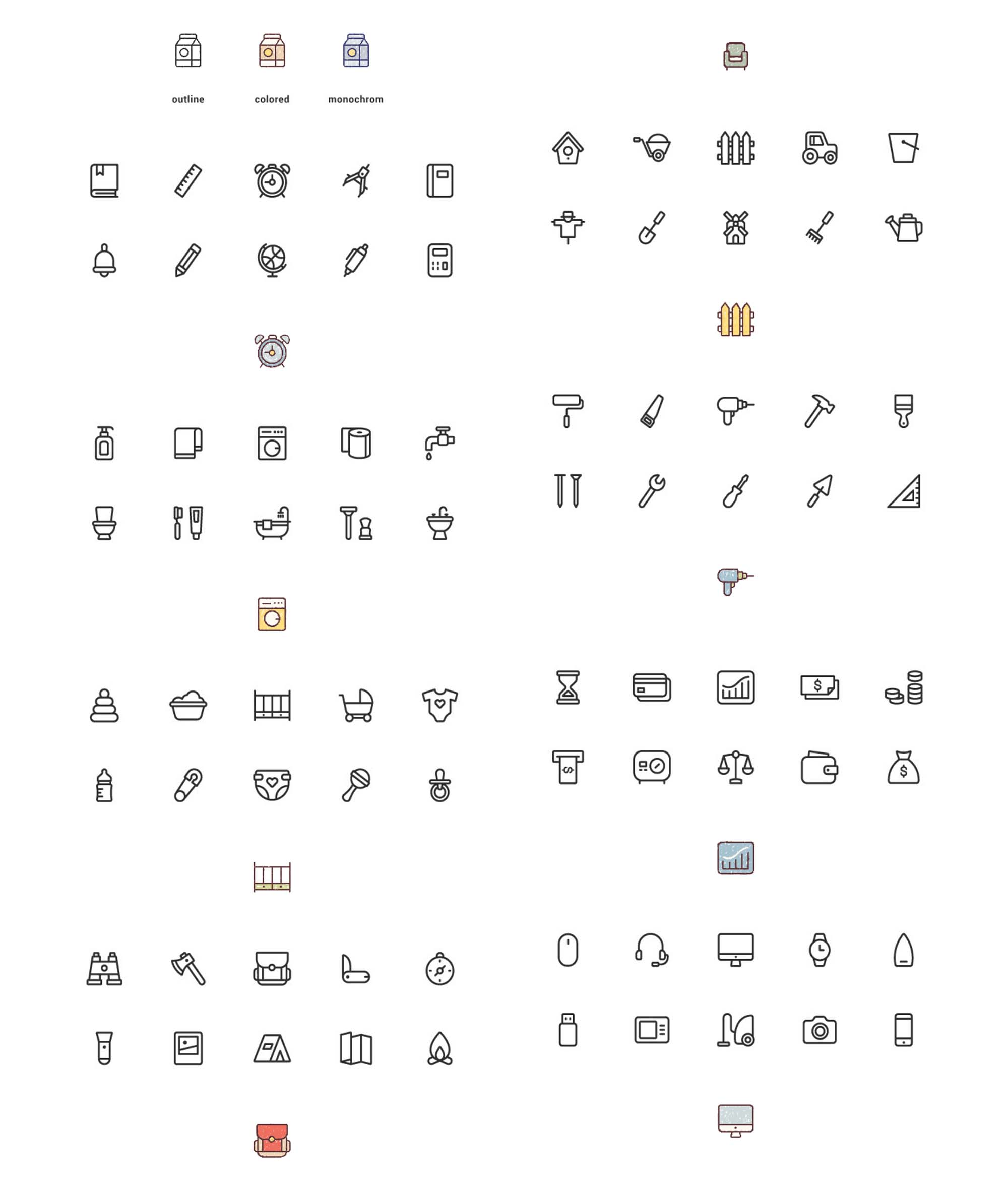 Colored Vector Icons