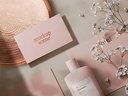 Cosmetics Mockup Scene