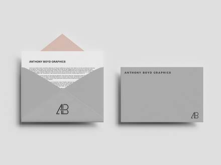 Top View Envelope Mockup