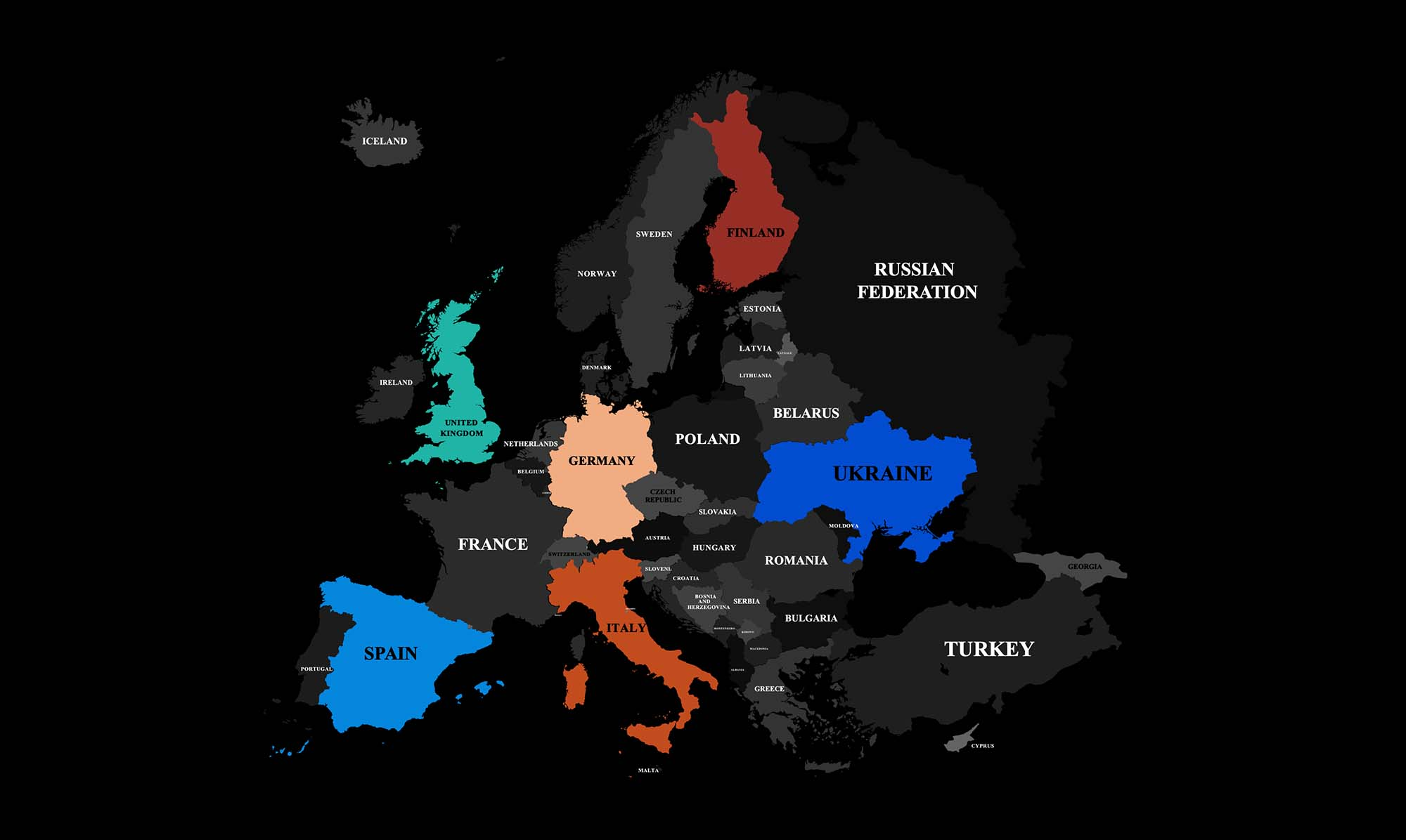Europe Map Infographics Template