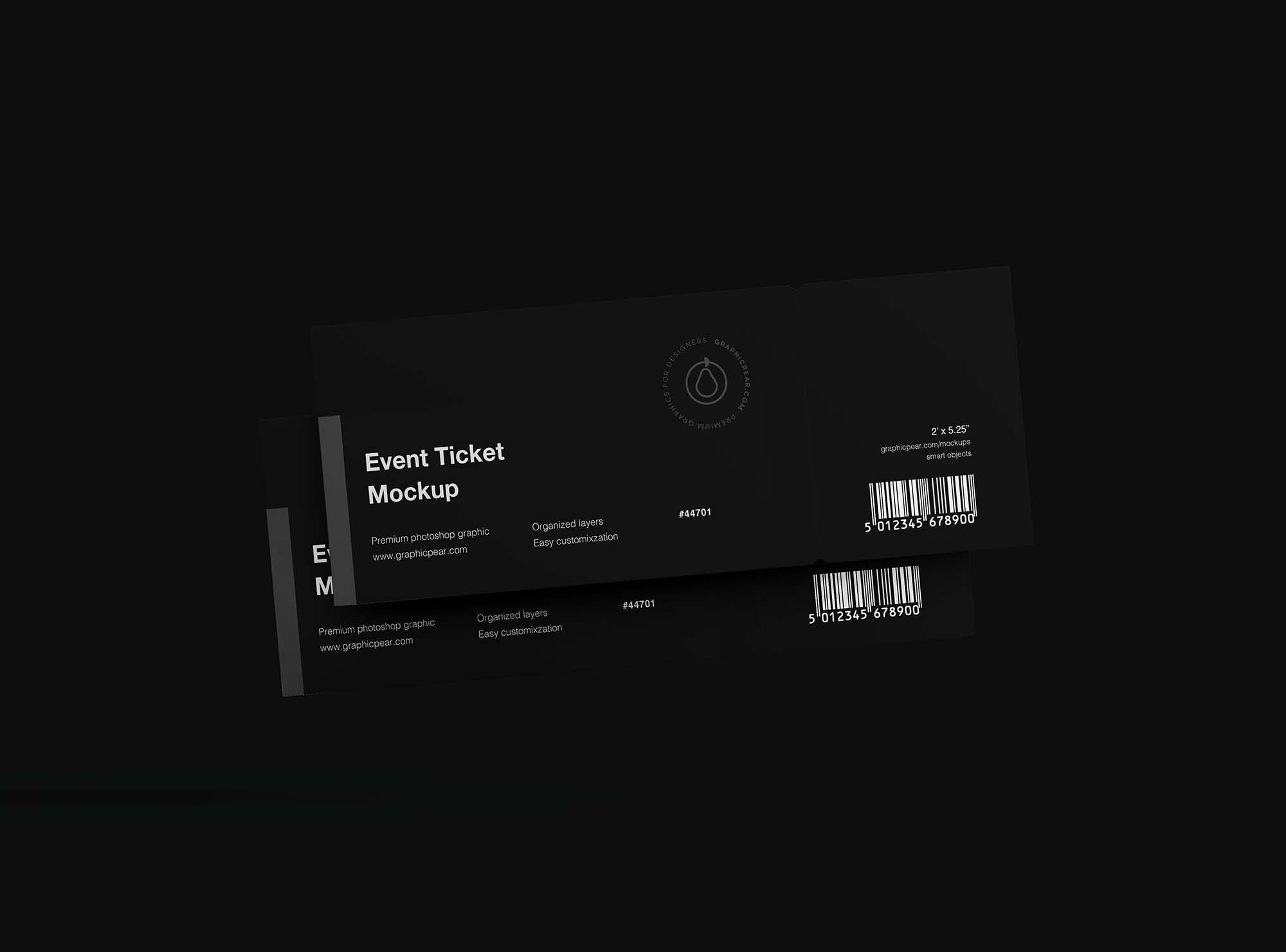 Floating Tickets Mockup