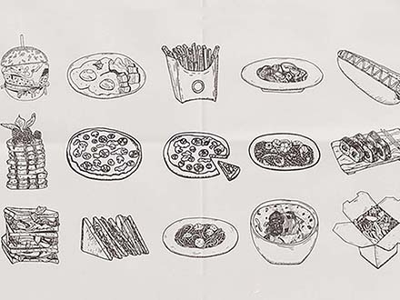 Food Sketch Illustrations