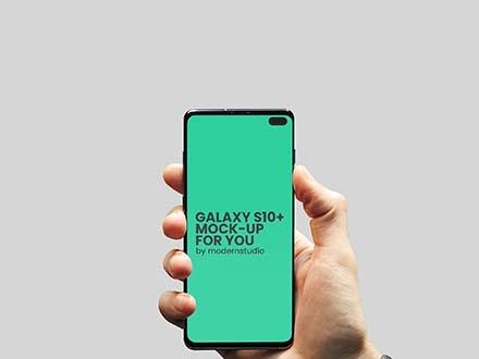 Galaxy S10 Plus Mockup