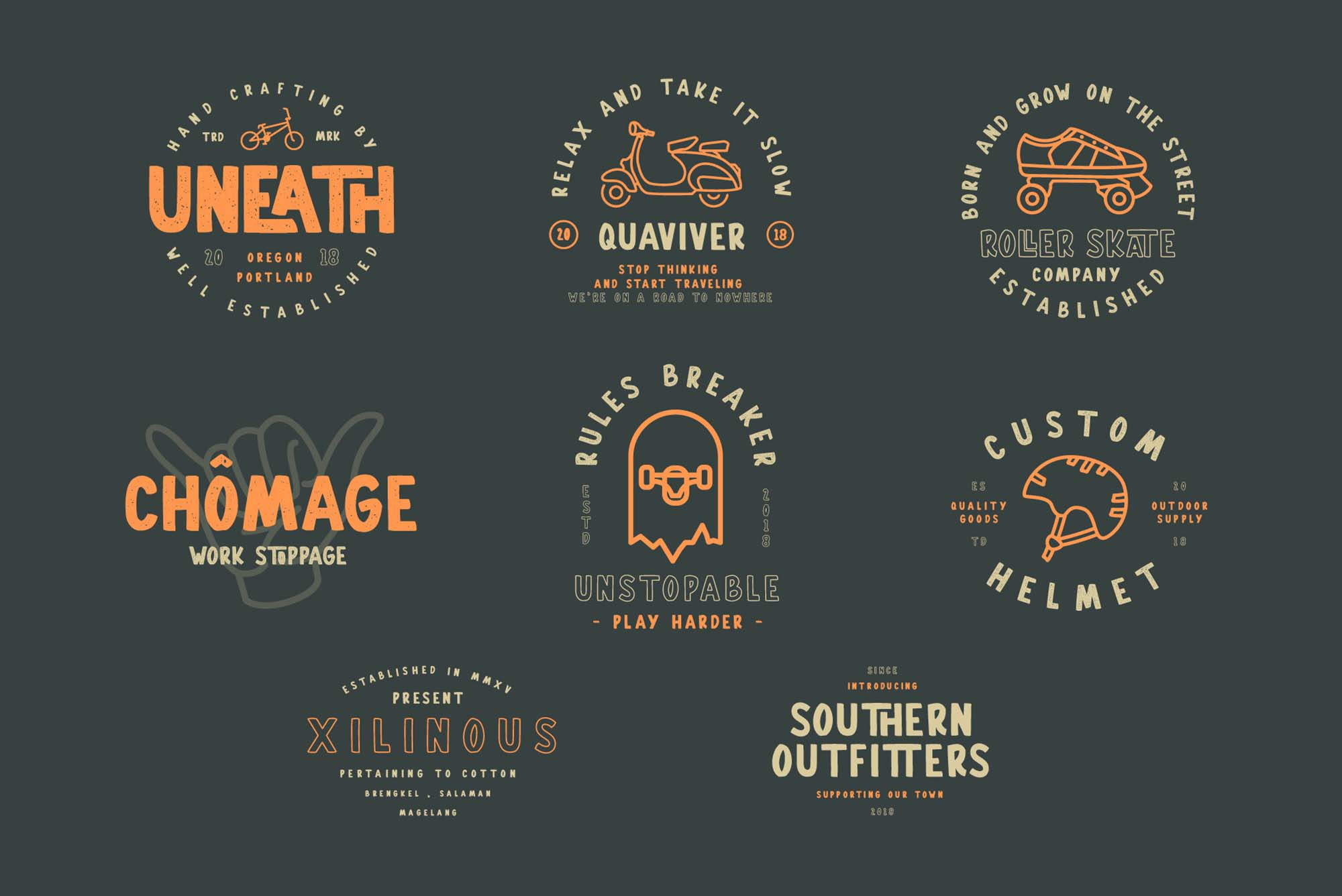Gallicide Font Badges