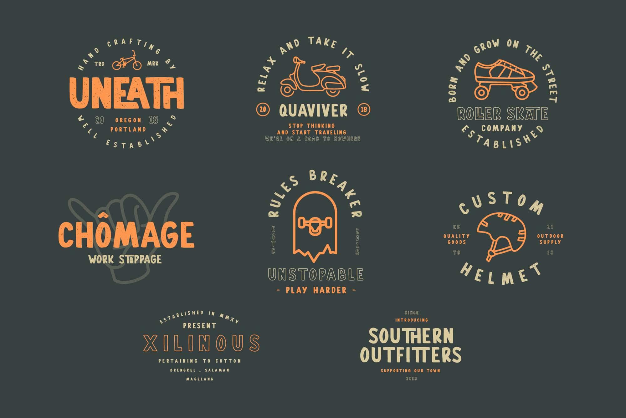 Gallicide Font Badges